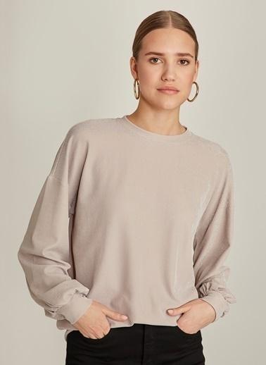 Ng Style Simli Sweatshirt Taş